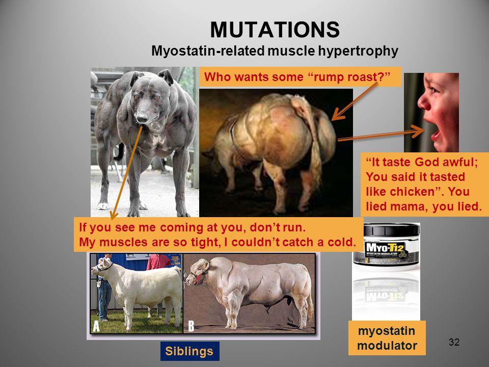 MUTATIONS Myostatin-related muscle hypertrophy