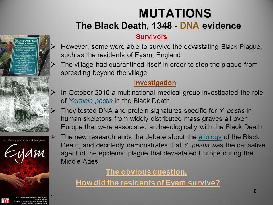 The Black Death, 1348 - DNA evidence