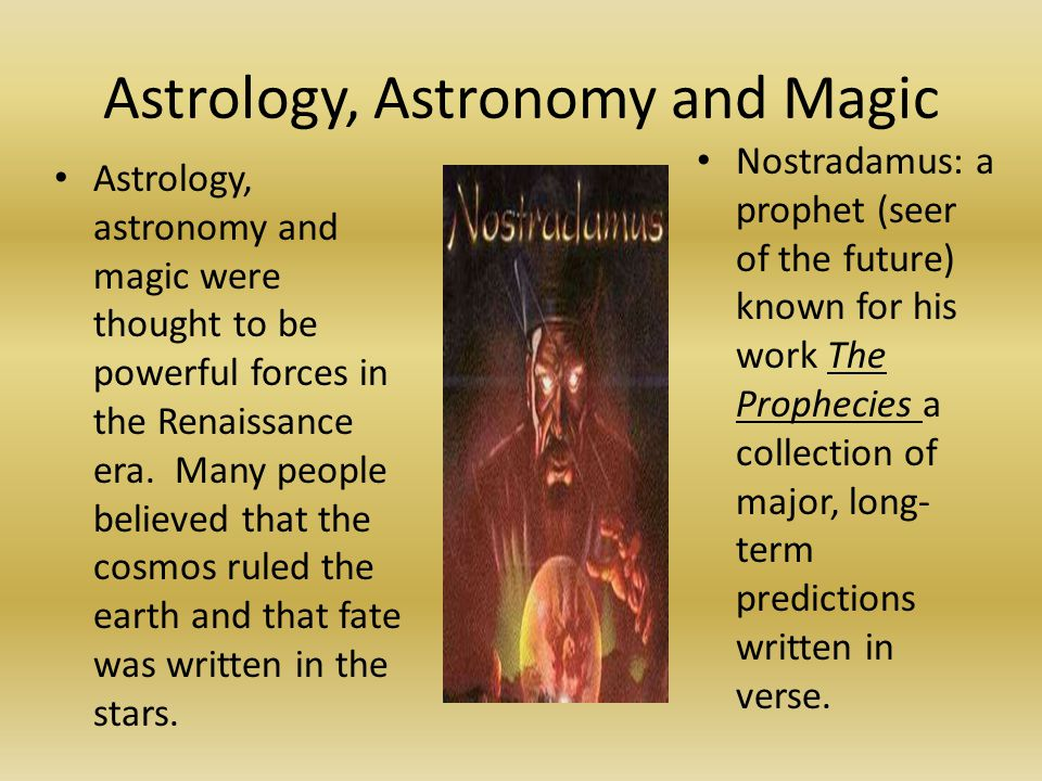 Astrology, Astronomy and Magic