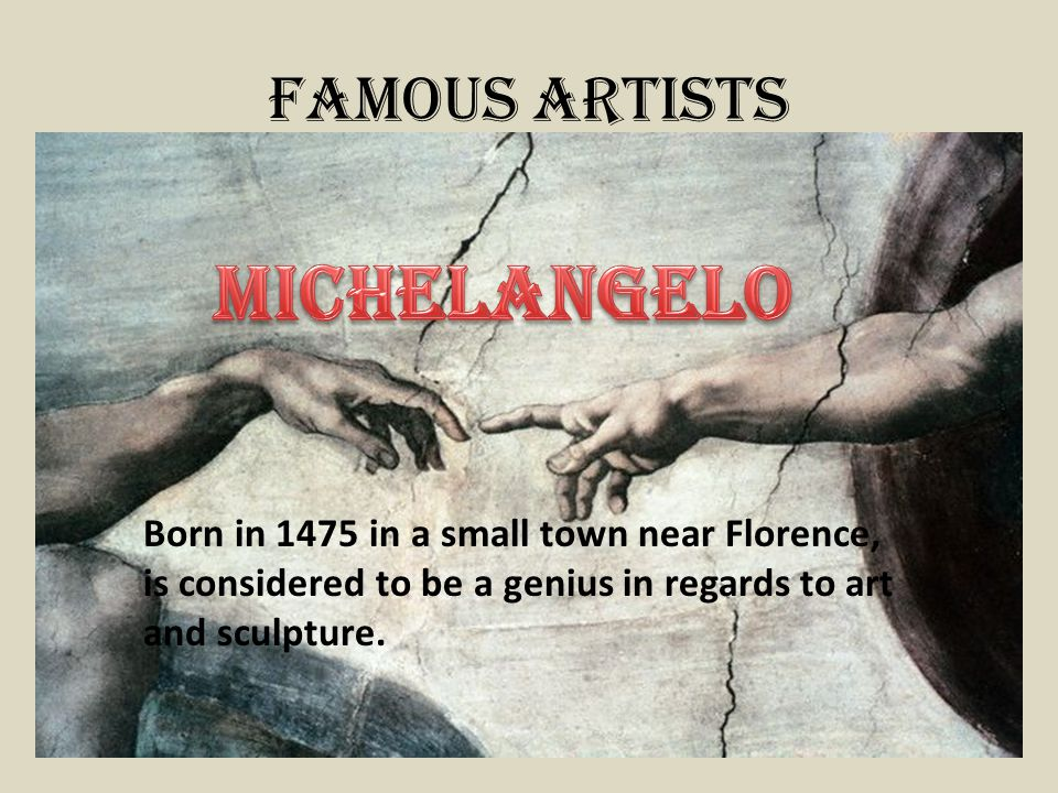 Michelangelo Famous Artists