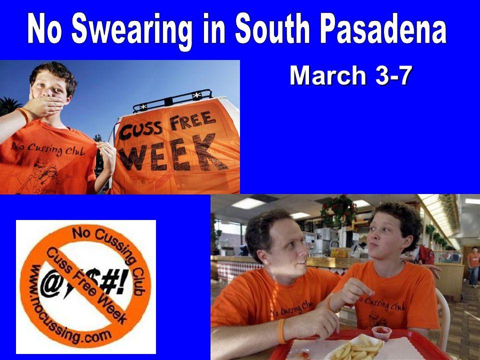 No Swearing in South Pasadena