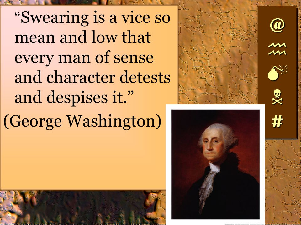 @ h M N # (George Washington)
