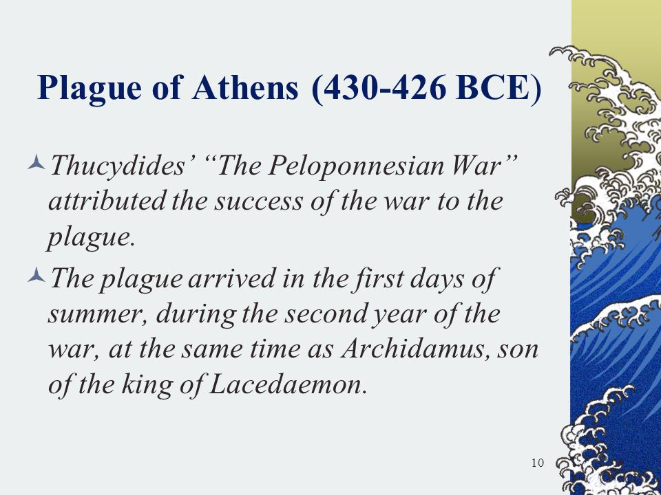 Plague of Athens (430-426 BCE)