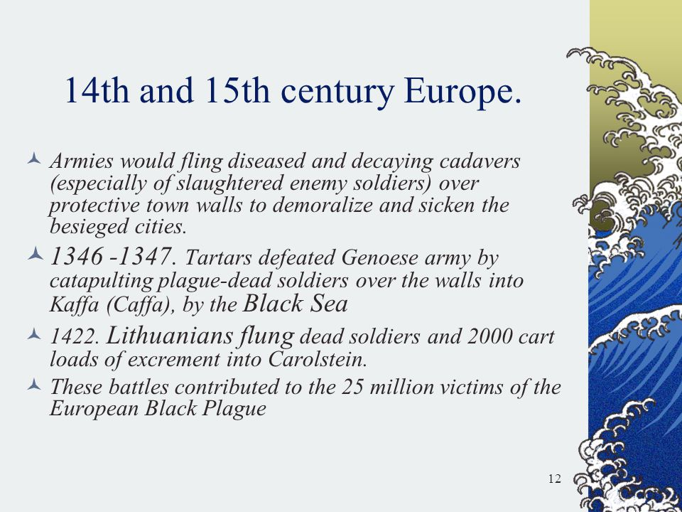 14th and 15th century Europe.