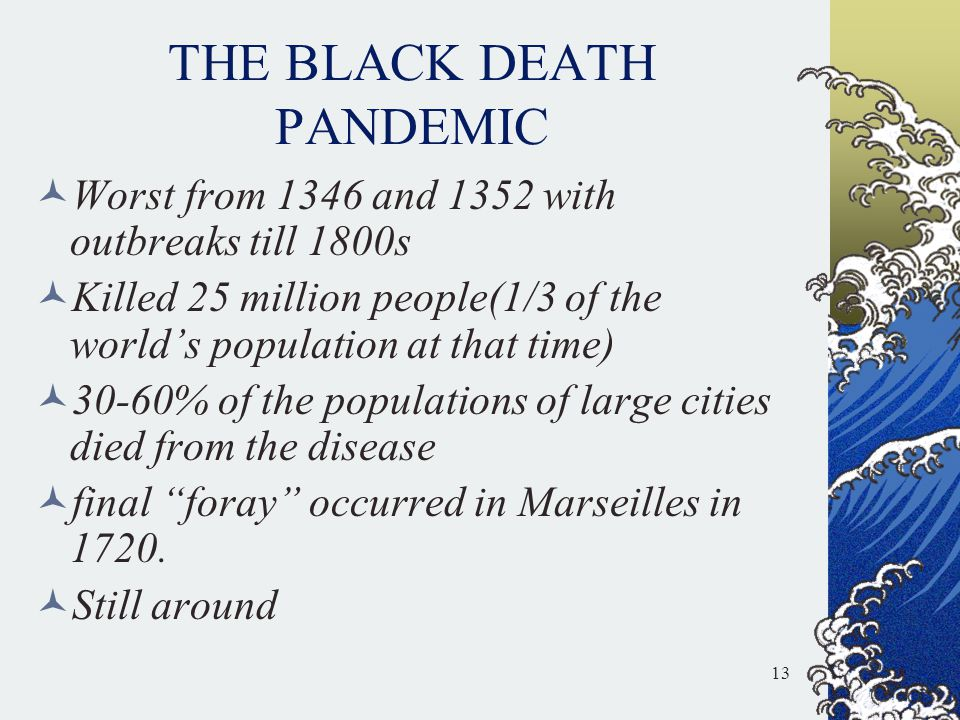 THE BLACK DEATH PANDEMIC