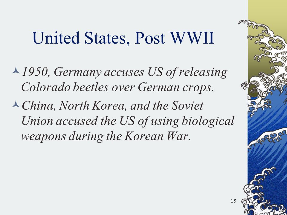 United States, Post WWII