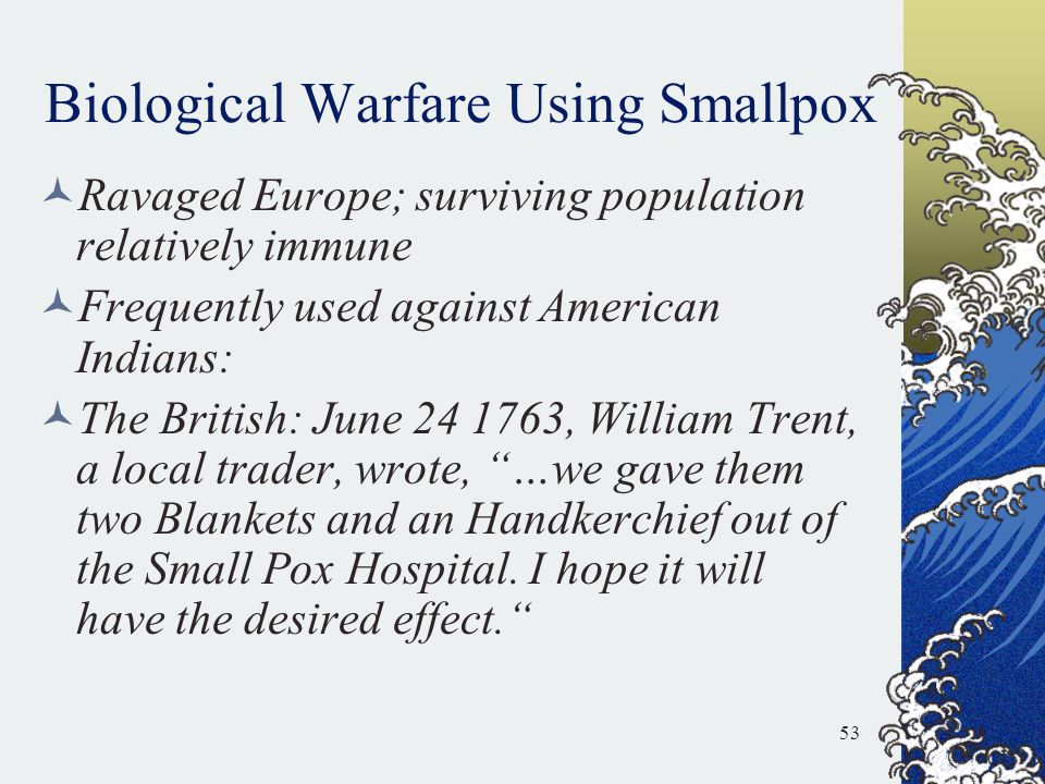 Biological Warfare Using Smallpox
