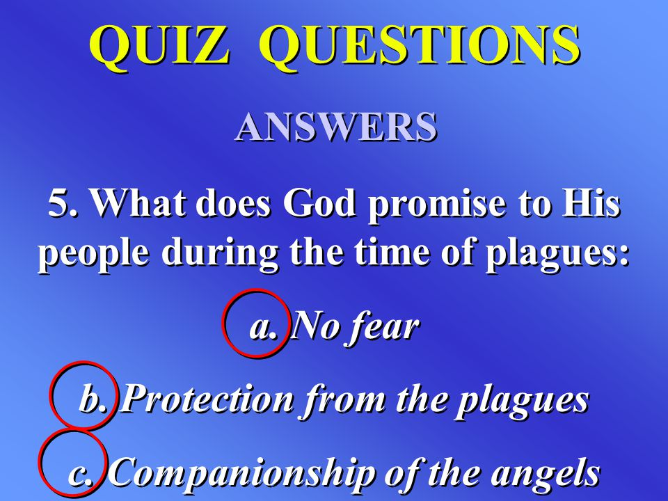 QUIZ QUESTIONS ANSWERS