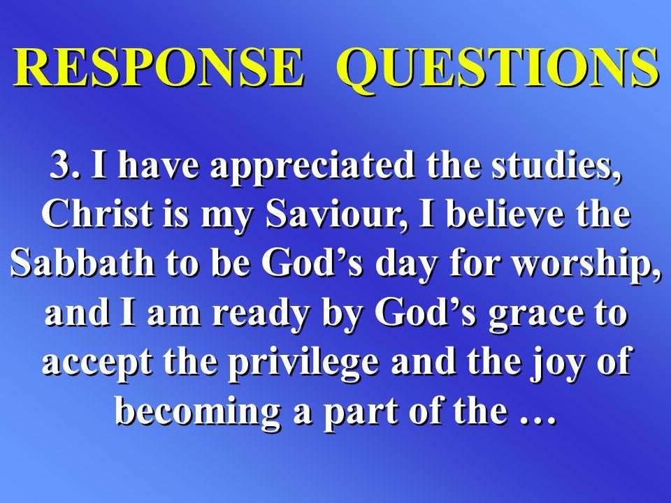 RESPONSE QUESTIONS