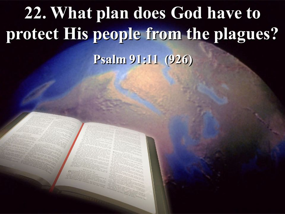 22. What plan does God have to protect His people from the plagues