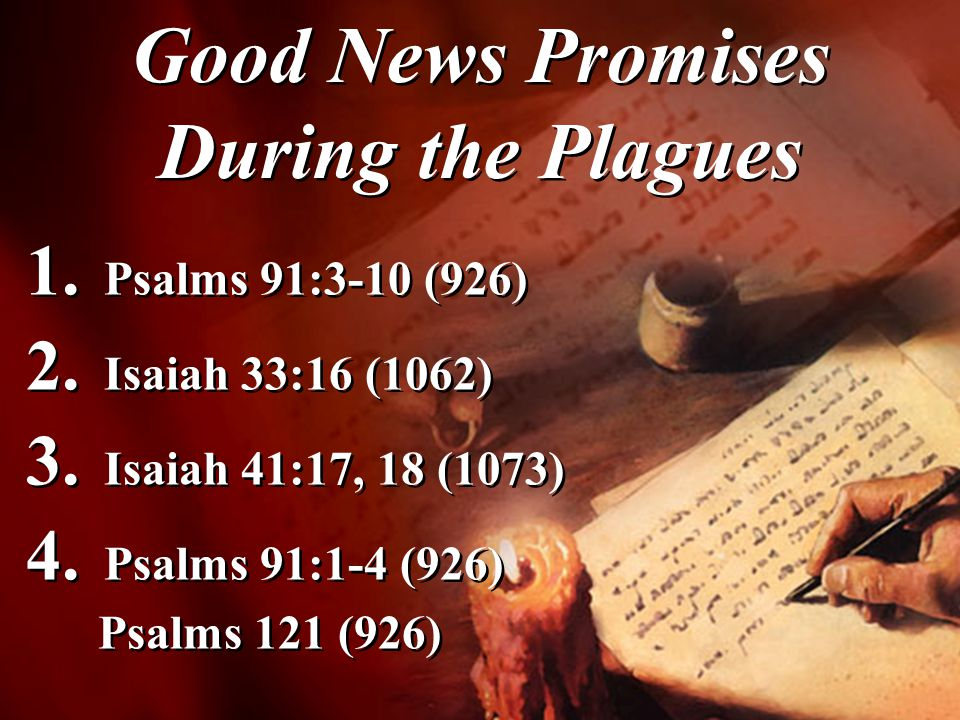 Good News Promises During the Plagues