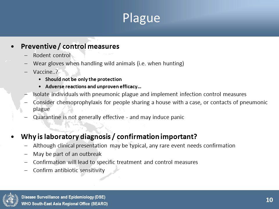 Plague Preventive / control measures