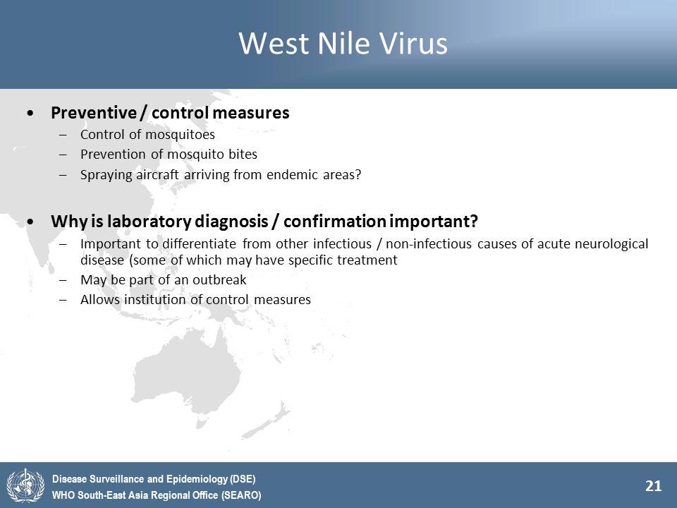 West Nile Virus Preventive / control measures