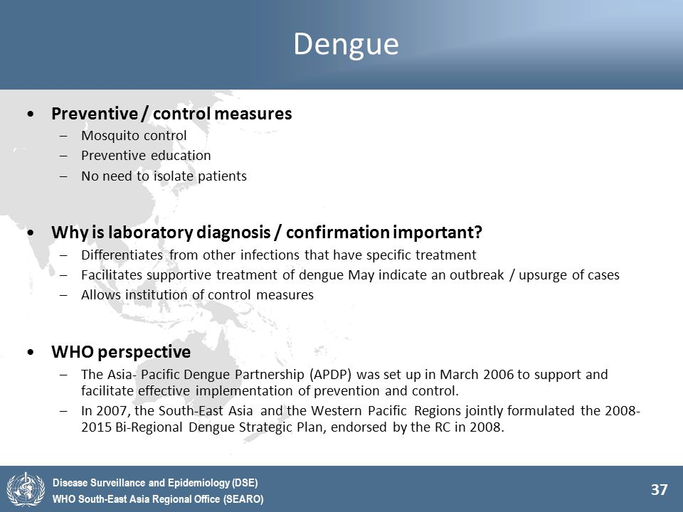 Dengue Preventive / control measures