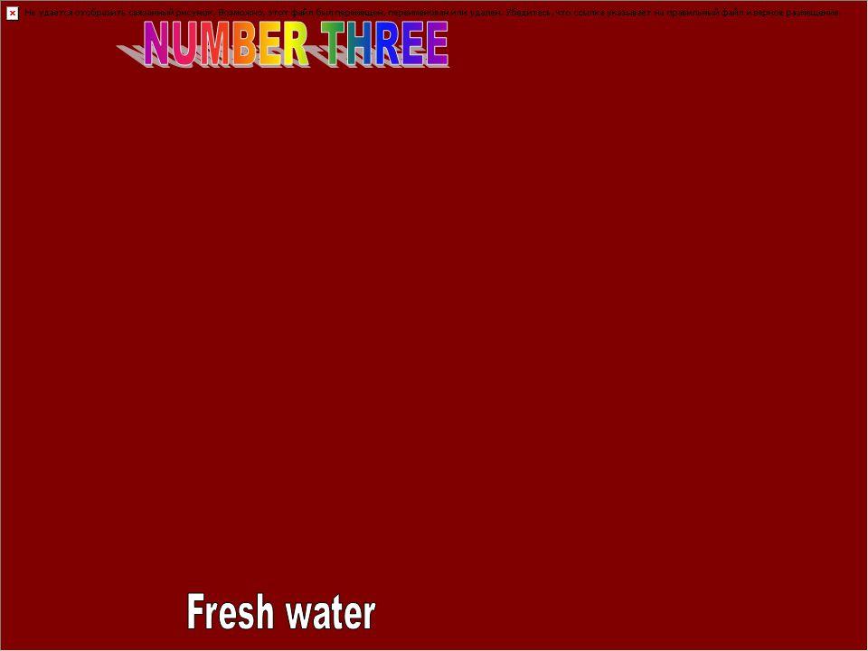 NUMBER THREE Fresh water