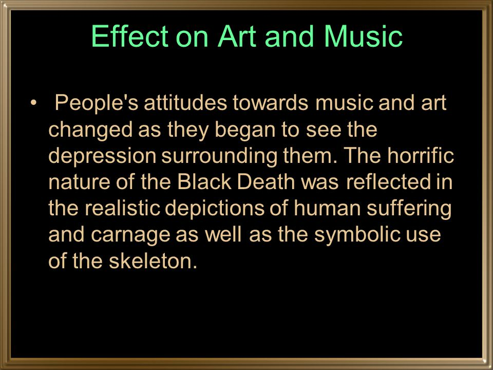 Effect on Art and Music