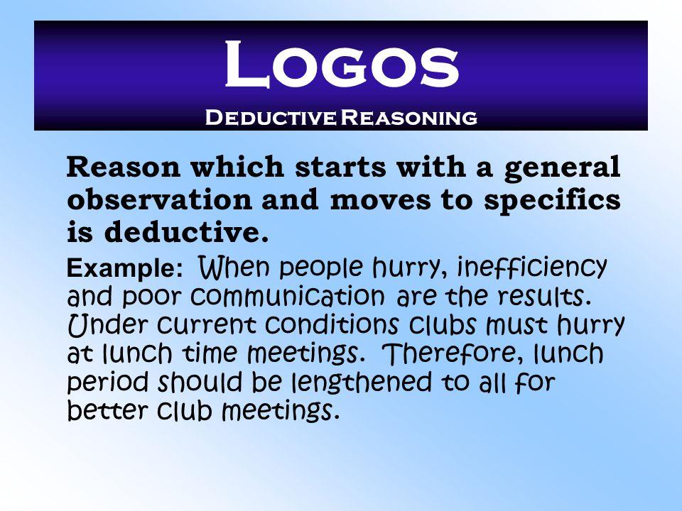 Logos Deductive Reasoning