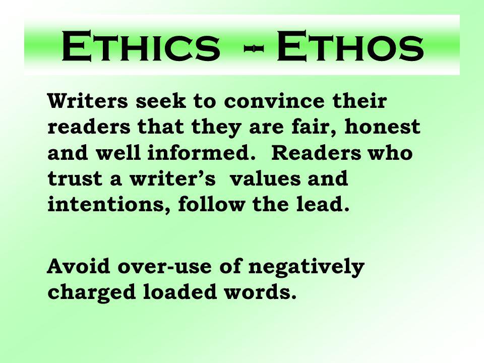 Ethics -- Ethos