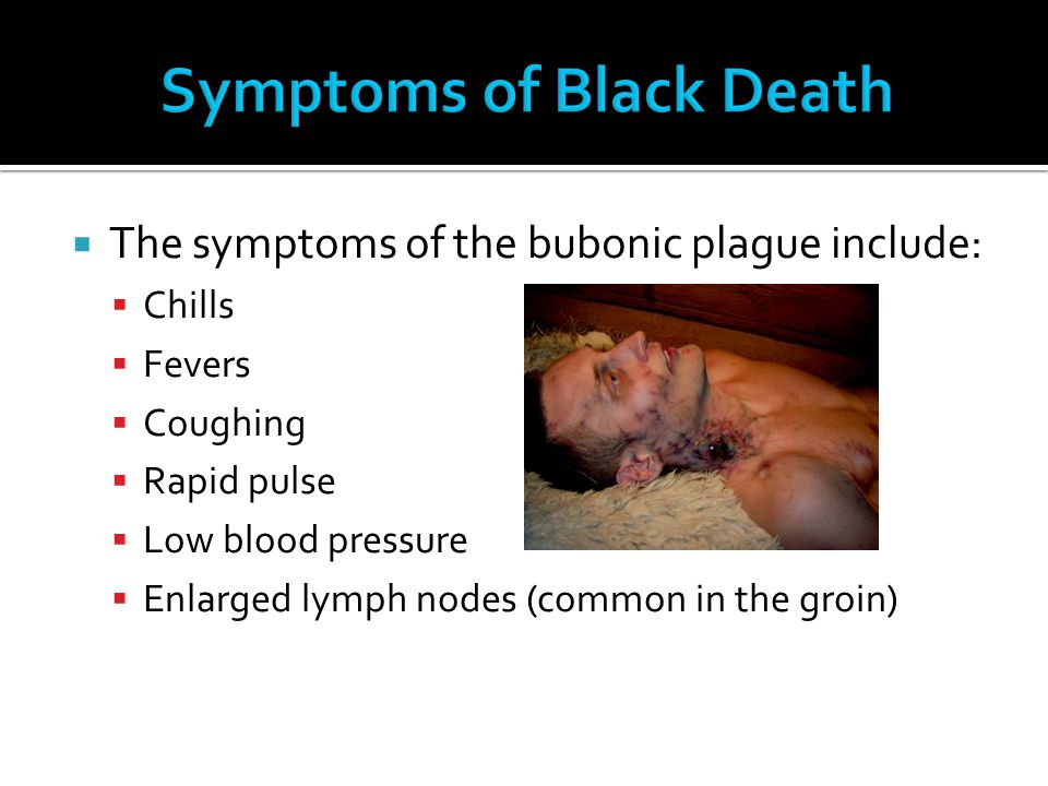 Symptoms of Black Death