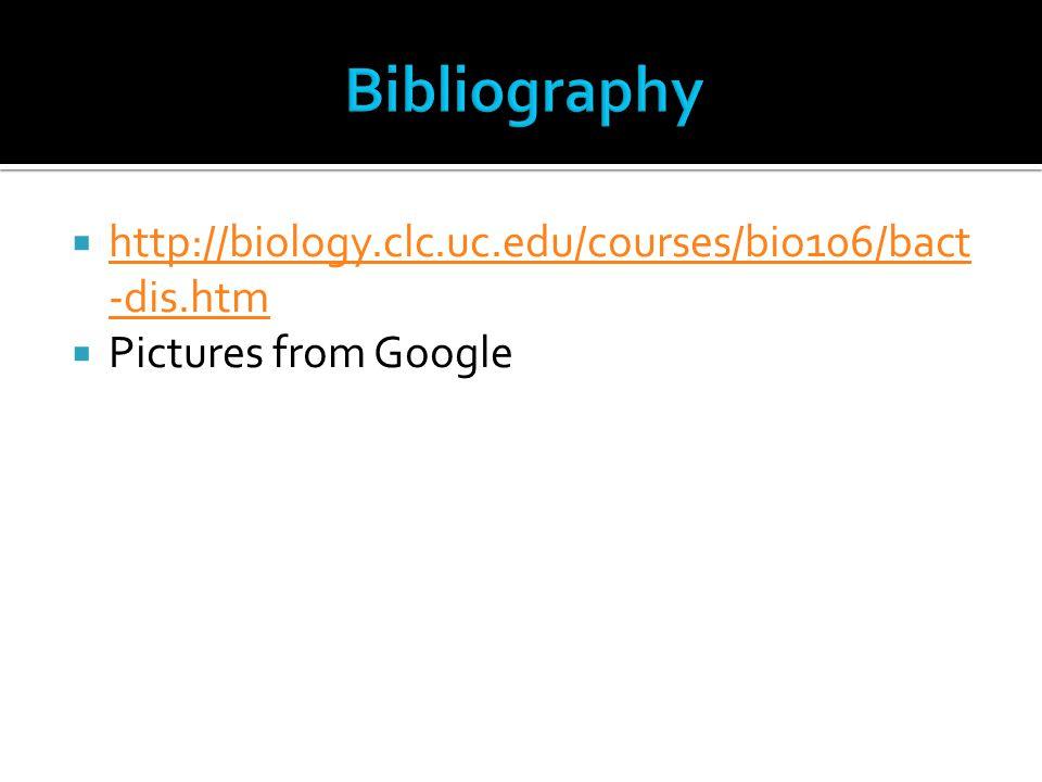 Bibliography http://biology.clc.uc.edu/courses/bio106/bact-dis.htm