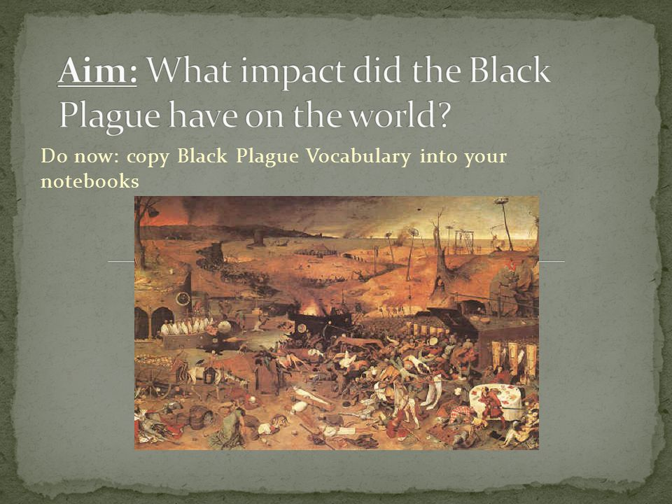 Aim: What impact did the Black Plague have on the world