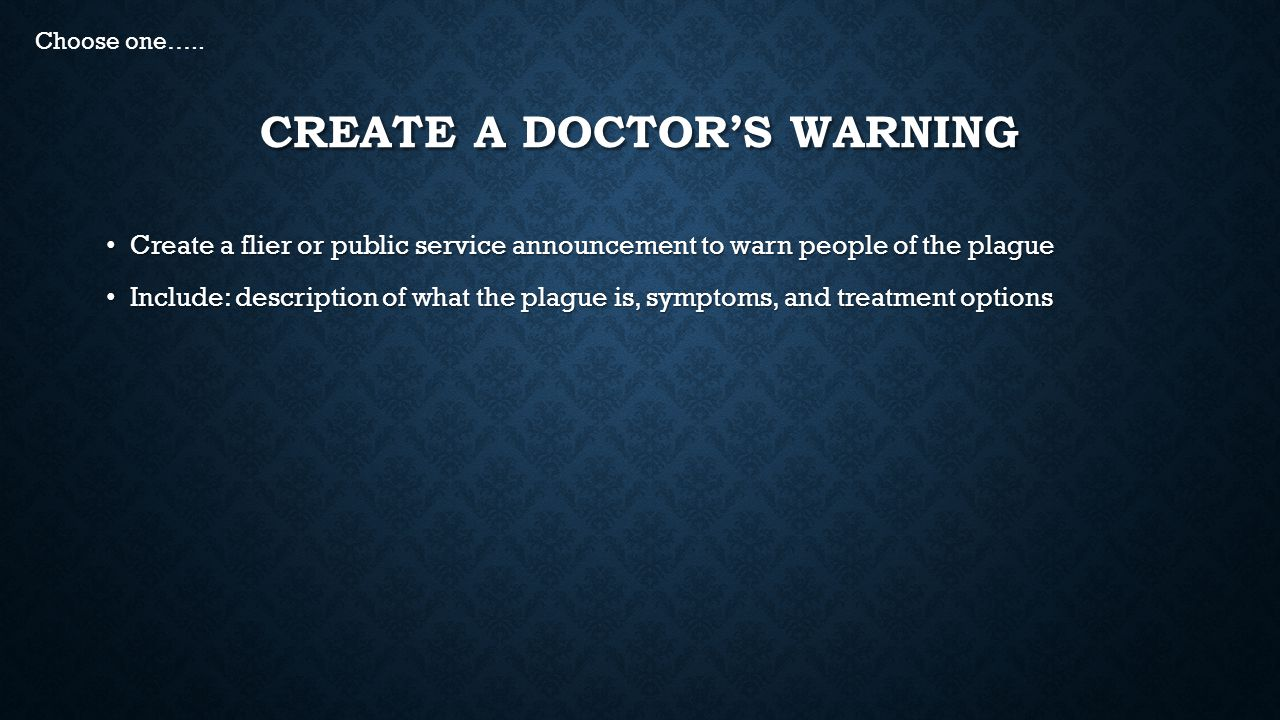 Create a Doctor's Warning