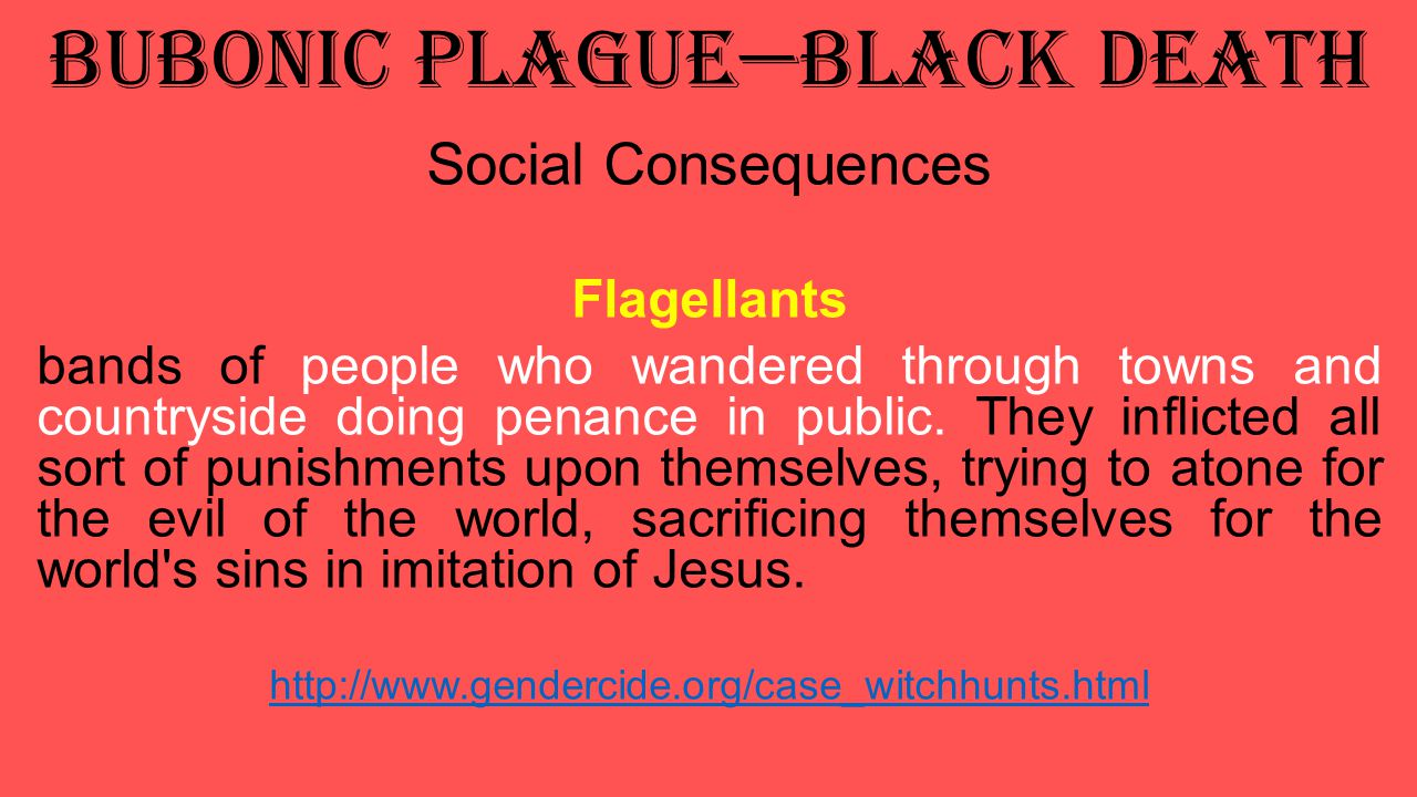 Bubonic Plague—Black Death