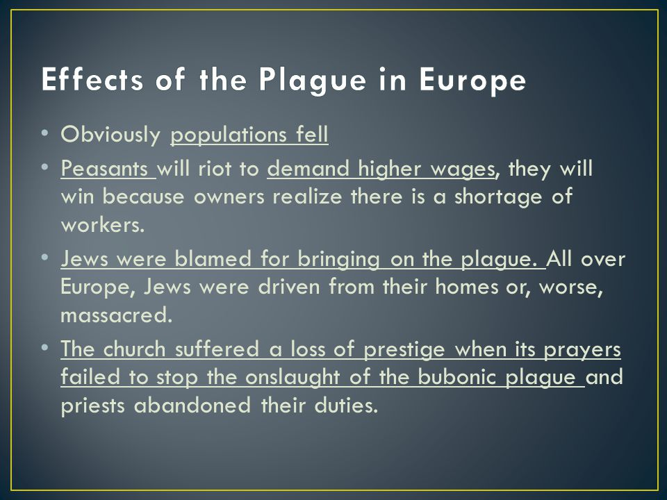 Effects of the Plague in Europe