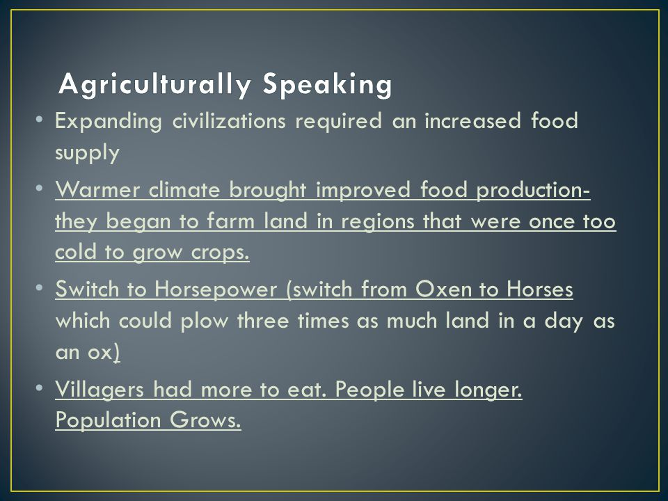 Agriculturally Speaking