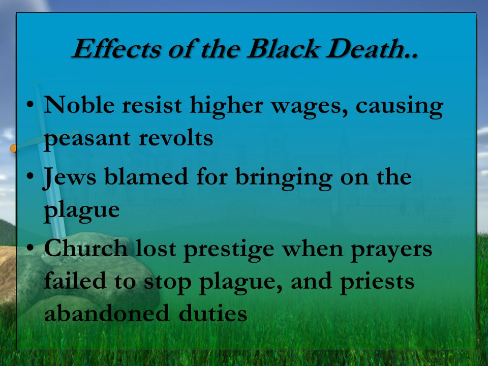 Effects of the Black Death..