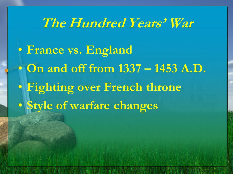 The Hundred Years' War France vs. England