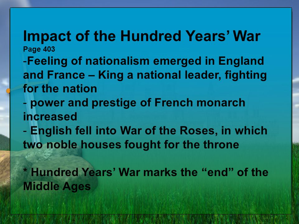 Impact of the Hundred Years' War