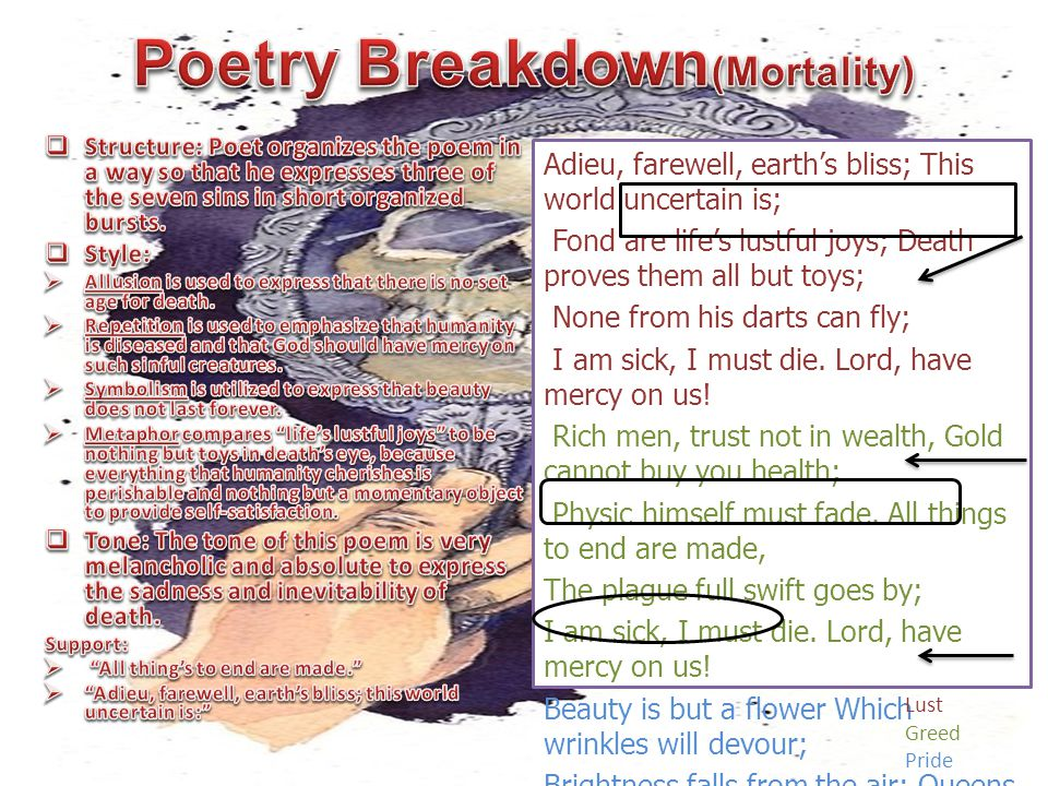 Poetry Breakdown(Mortality)