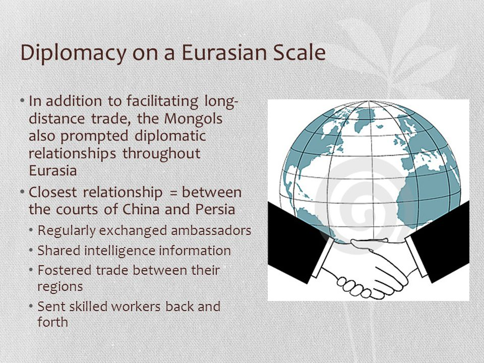 Diplomacy on a Eurasian Scale