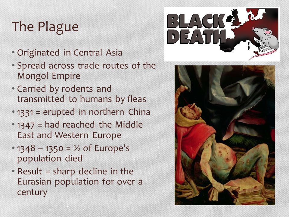 The Plague Originated in Central Asia
