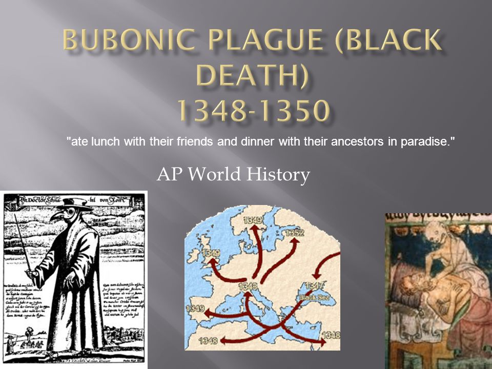 Bubonic Plague (Black Death) 1348-1350