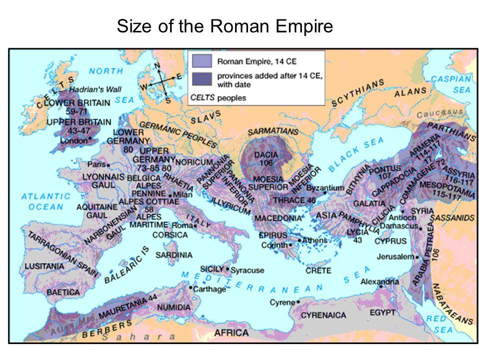 Size of the Roman Empire