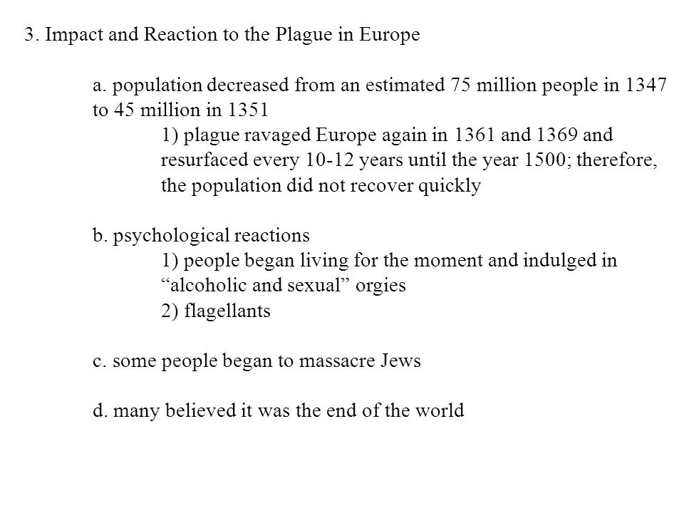 3. Impact and Reaction to the Plague in Europe