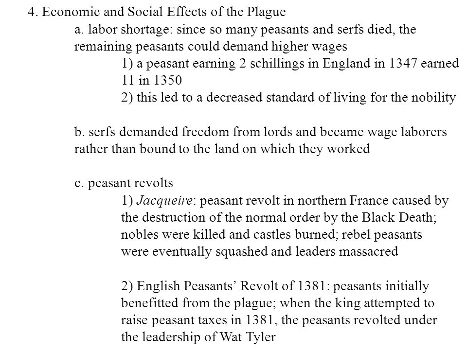 4. Economic and Social Effects of the Plague