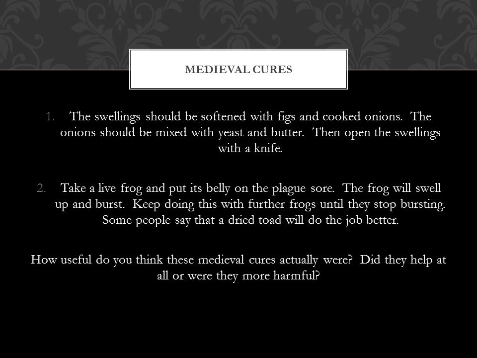 Medieval Cures