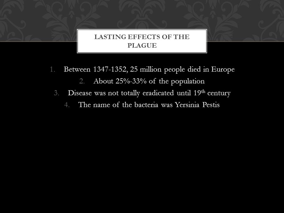 Lasting effects of the Plague