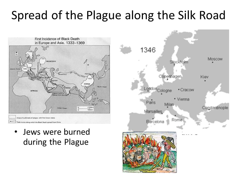 Spread of the Plague along the Silk Road