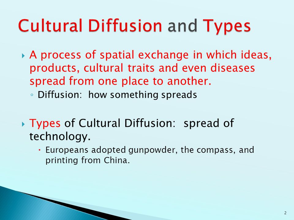 Cultural Diffusion and Types