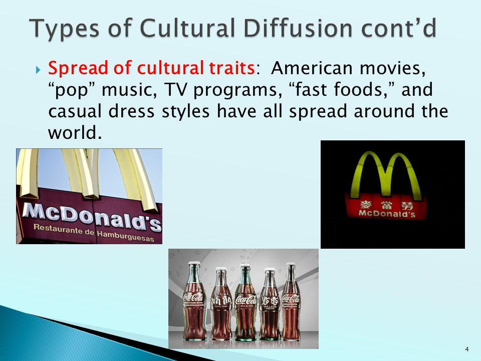 Types of Cultural Diffusion cont'd