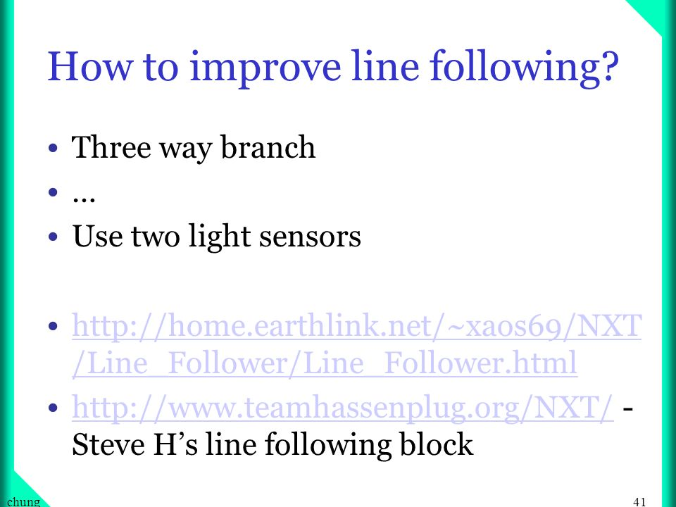How to improve line following