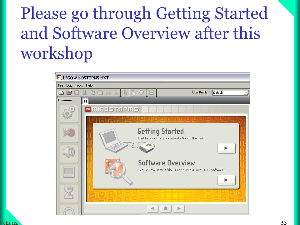 Please go through Getting Started and Software Overview after this workshop