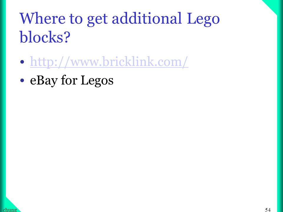 Where to get additional Lego blocks