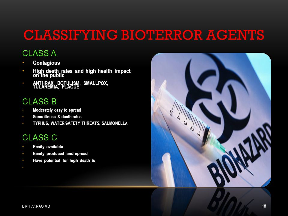 CLASSIFYING BIOTERROR AGENTS