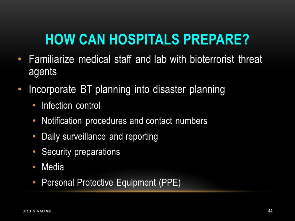 How can Hospitals Prepare