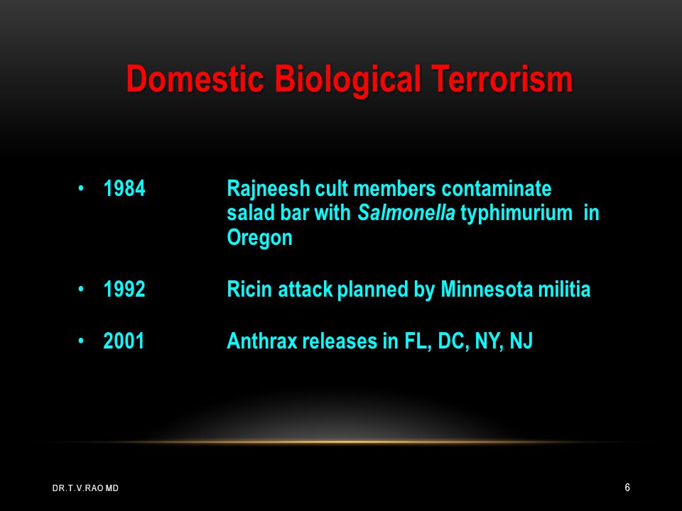 Domestic Biological Terrorism